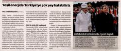 Dunya Newspaper - We can add value in Green Energy to Turkey